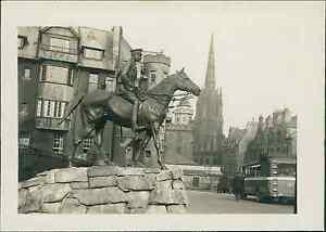 Ecosse (Scotland), Edinburgh. Marechal Douglas Haig Monument vintage silver pri