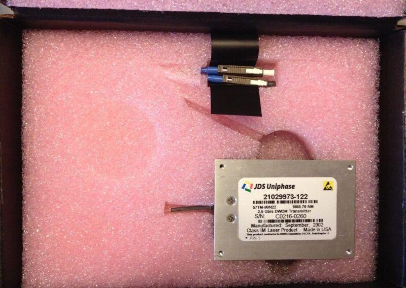 JDS UNIPHASE 2.5 GB/S DWDM TRANSMITTER  MODEL: 57TM-98N22  P/N: 21029973-122