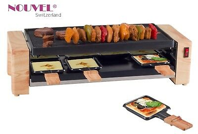 Pizza + Raclettegrill für 8 Personen Nouvel  Swiss * Wood * 1200 + 400 Watt