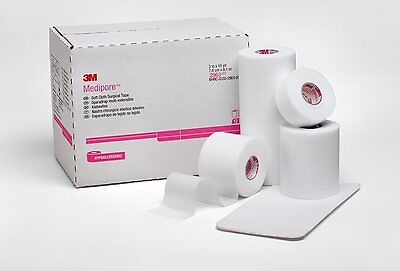 Soft Cloth Medical Tape - 3M MEDIPORE SOFT CLOTH MEDICAL TAPE, WOUND CARE, 6 ROLLS! 2963 **FREE SHIPPING**