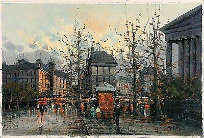 ALDO RANDO Signed Vintage Mid Century 1960's Italian Painting PARIS CITYSCAPE