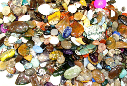 250 Cts Natural Gemstone Mixed Cabochon Wholesale Lot Wire Wrappers Wrap - A1
