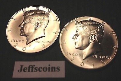 Clad Half Dollars - 2015 P&D Kennedy Half Dollars Kenedy PD MINT ROLL Clad 50¢ 2 Uncirculated Coins