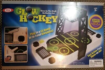 Ideal Glow In The Dark Air Hockey Table Set Arcade Hockey Action - (Air Hockey Table Glow In The Dark)