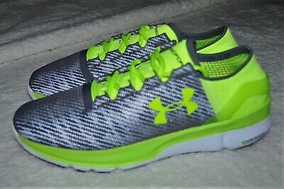Under Armour Speedform Apollo 2 Running Shoes Grey/High Vis Yellow Men's Size 8