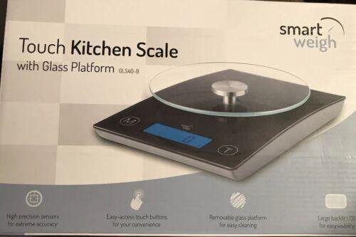 Smart Weigh Touch Kitchen Scale with Glass Platform - GLS40B