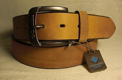 Columbia Men's Tan Genuine Leather Belt Size 38 NWT $34