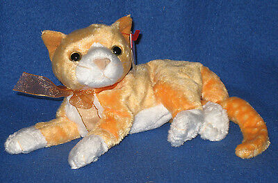 TY TABS the CAT BEANIE BABY - MINT with MINT TAGS