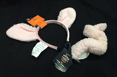 Adult / Child Pig Ears and Tail Set Fancy Dress Headband Costume Accessory - Child Bull Costume