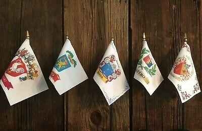 Custom Family Crest ~ Coat Of Arms ~ Mini Desk Flag 4