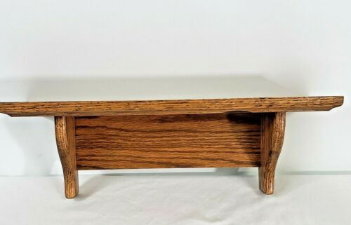 """Vintage Wooden Hanging Wall Shelf 18"""" long Solid quality"""