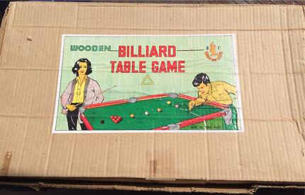 1950's retro kids billiard table