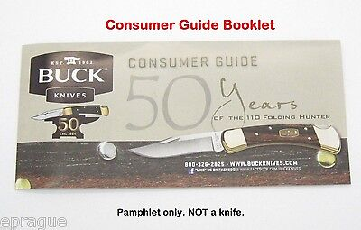 CONSUMER GUIDE BUCK KNIVES 50TH ANNIVERSARY FLYER 110 FOLDING HUNTER 119 401 112