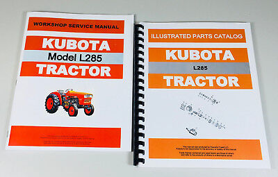 Kubota L285 Tractor Service Parts Manual Technical Shop Book Catalog Ovhl Set
