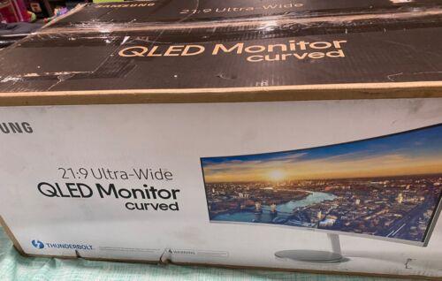"Samsung CJ79 34"" Ultra-Wide Thunderbolt Curved QLED Monitor"