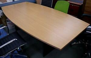 New Swan 2400x1200 Boat Conference Meeting Boardroom Tables Melbourne CBD Melbourne City Preview