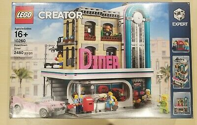 Lego Creator Expert 10260 Downtown Diner 2480 Pieces   Brand New in Retail Box