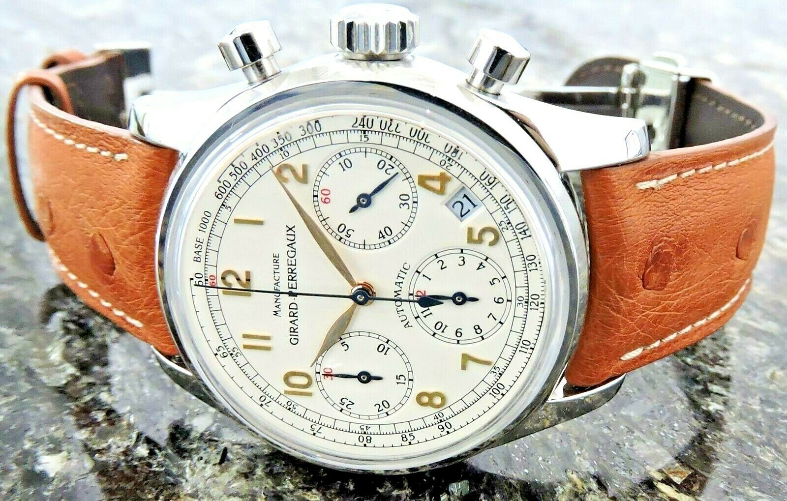 Girard Perregaux – Ref. 4946 – W/ Box – Chronograph –  PERFECT –  Awesome Dial - watch picture 1