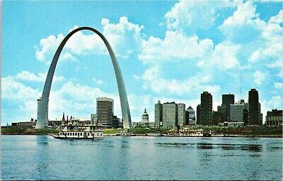 St. Louis MIssouri - Gateway Arch - river level view with tour boats