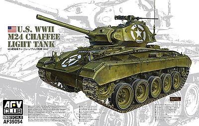 AFV Club 1/35 AF35054 WWII US M24 Chaffee Light Tank w/Metal Gun Barrel