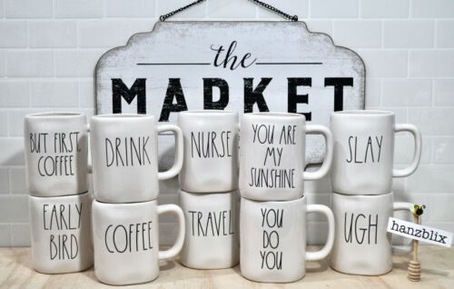 """Rae Dunn """"YOU CHOOSE"""" Mugs *SAVE ON SHIPPING* Large Letter Farmhouse NEW"""
