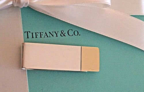 Authentic Tiffany & Co Sterling Silver / 14K Yellow Gold Money Clip