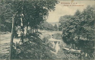 Ansichtskarte Weinheim a.d. B. Partie im Birkenauertal   (Nr.9036)