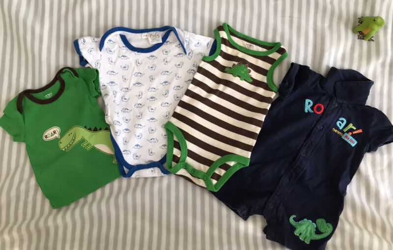 Baby Boy Dino Summer Clothes Outfit Set Lot 0-3 Months & 3-6 Months Carter's Etc