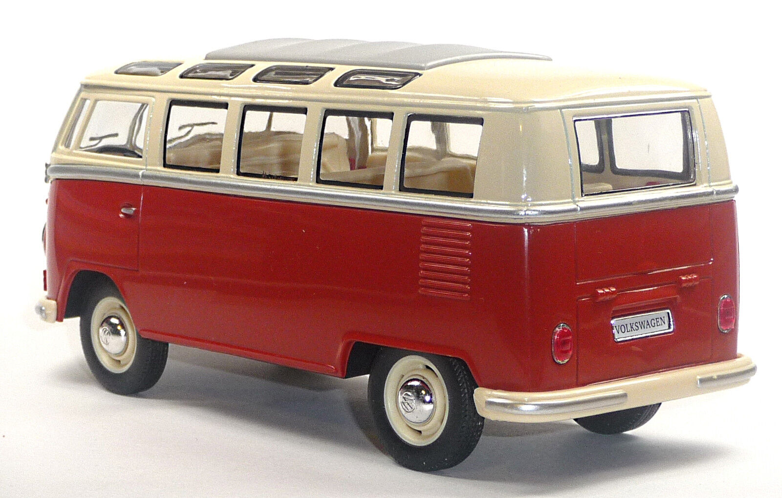 neu vw bus bulli t1 samba 1 24 rot modellauto ca 17. Black Bedroom Furniture Sets. Home Design Ideas
