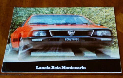 Lancia Beta Montecarlo srs. 1 brochure Prospekt, 1977 (multilingual)