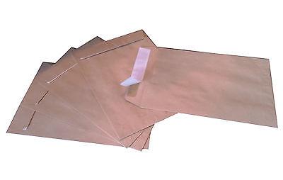 500 Stück Briefumschläge C5 162 x 229 mm haftklebend Braun Versandtaschen A5