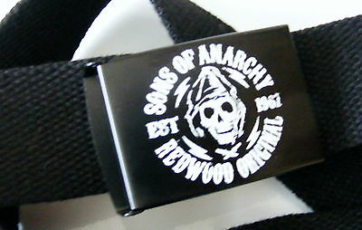 "SONS OF ANARCHY ONE Sz. BELT & BUCKLE.46"" Lg.BIKER GOTHIC BRAND NEW SOA PRODUCT"