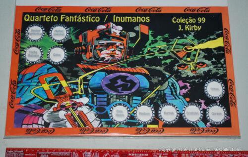 Marvel Kirby FF Galactus Complete Bottle Cap Set 10 Brazil Coca Cola Coke