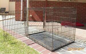 Foldable metal dog cage / crate Highbury Tea Tree Gully Area Preview