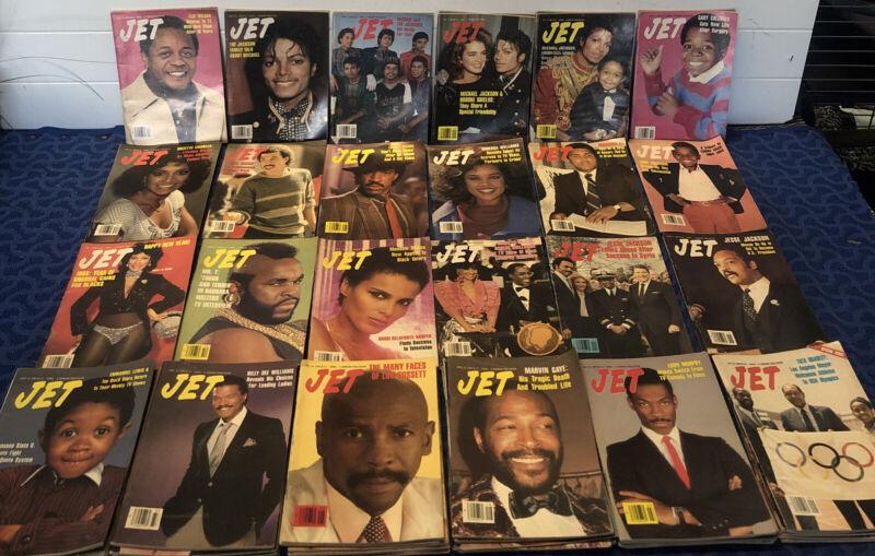 Vintage Jet Magazine Lot 48 Issues 1984 Michael Jackson Lionel Richie & More .