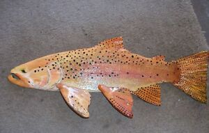 Hand Carved and PaintedTrout and Saltwater fish look realistic