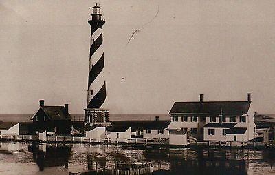 Cape Hatteras Outer Banks North Carolina - Cape Hatteras Lighthouse, Buxton, Outer Banks North Carolina NC, 1893 - Postcard