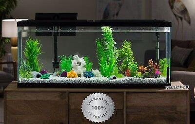 Aquarium 55 Gallon Large Fish Tank Starter Kit Led Light Silent Filter Daylight