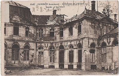 POSTCARD  MILITARY WWI  VERDUN  The Bombardment