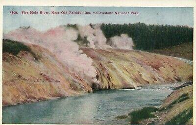 Old Faithful Inn, Yellowstone Park (4400 Fire Hole River Near Old Faithful Inn Yellow Stone National Park Postcard)