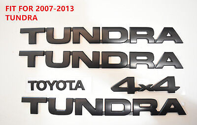 FOR 2007-2013 Tundra Matte Black Out Emblem Badges tailgate 10 Piece Kit