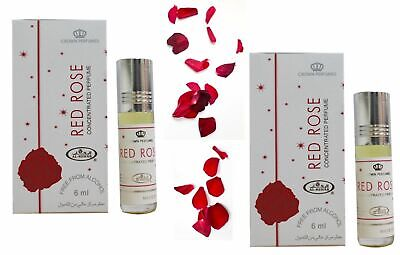 2x Red Rose Al Rehab 6ml Bottles Best Seller Perfume/oil/Attar Oud Rose,