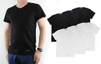 Calvin Klein Men's T-Shirts 100% Cotton V-Neck Classic Fit Tee Shirt, 3 Pack