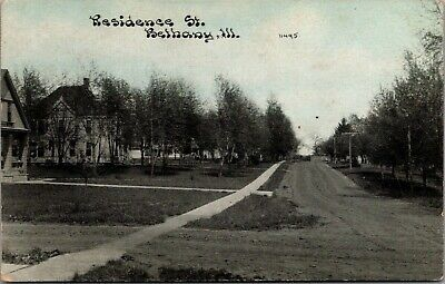 Bethany IL~Residence Street~Homes Both Sides~Uphill Dirt Road~c1910 CU Williams