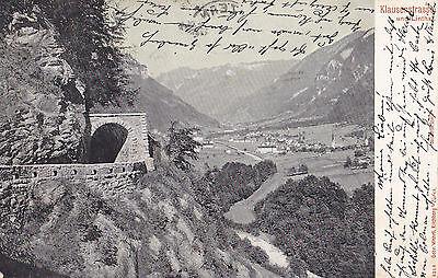 AK-Klausenstrasse und Linthal-1903