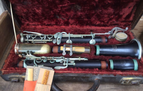American Pedler Clarinet, G. Langenus Mouthpiece,  w/ Case, Massillon, OH Tigers