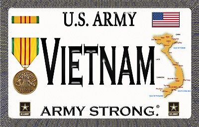 """U.S. Army - Vietnam - Army Strong - Magnetic Sign - 6"""" L X 3.75"""" H - Outdoor"""