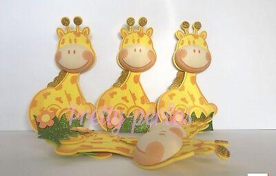 10-Baby Shower Party Table Decoration Safari Foam Giraffe Favors Centerpiece DIY - Safari Babyshower