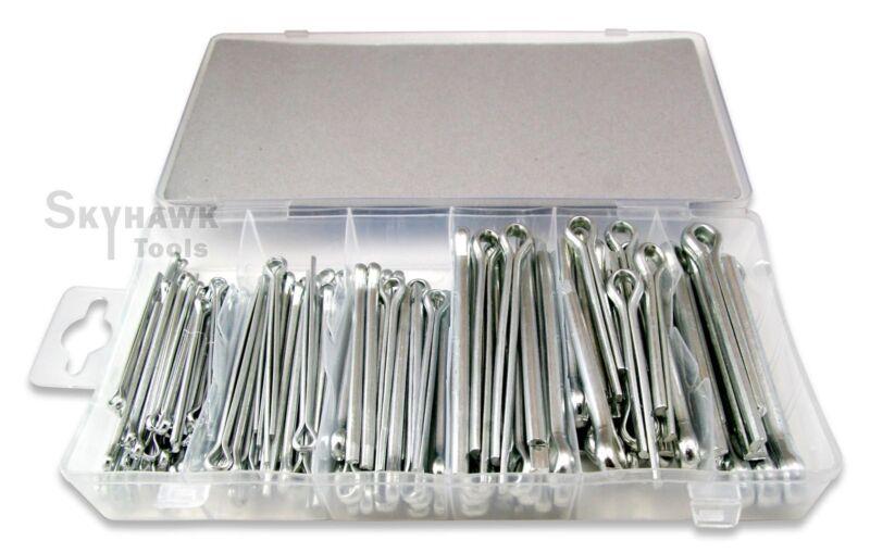 144 PC. Large Cotter Pin Assortment Extra Large Pin Cotter Keys Set