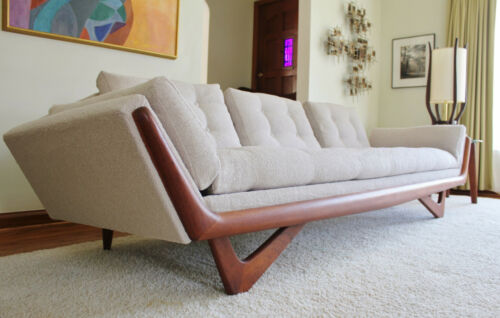 Mid Century Adrian Pearsall Craft Associates Sofa (New Upholstery)